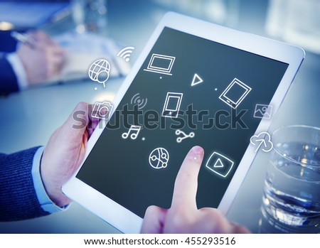 Digital Innovate Electronics Network Concept #455293516