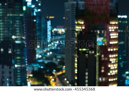 Abstract urban night light bokeh defocused background #455345368
