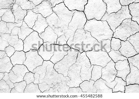 Black and white, Crack soil texture background #455482588