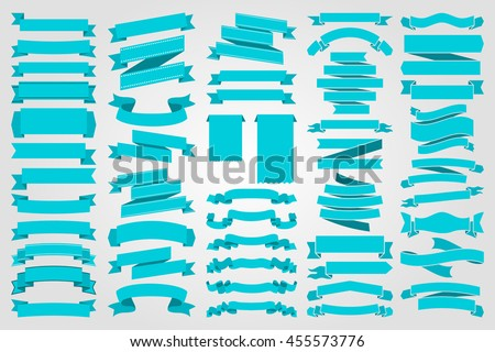 Ribbons and Tags Collection Set Vector Design #455573776