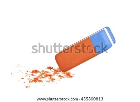 Eraser on a white background #455800813