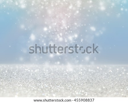Abstract of Bright and sparkling bokeh background. silver bokeh -blurred lighting from glitter texture. Luxury design background. #455908837