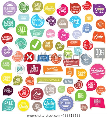 Badges and labels collection #455918635