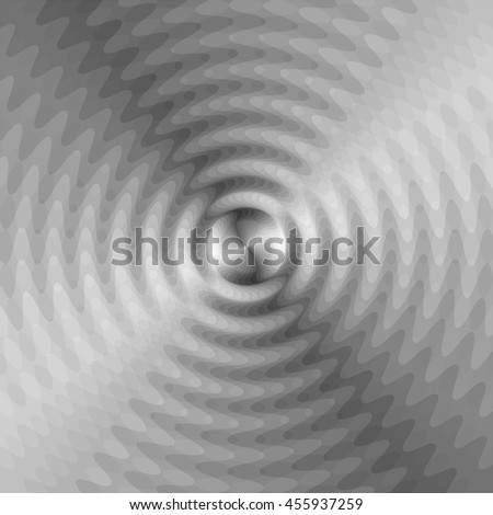 Vector Illustration. Monochrome Expanding Waves Intersect in the Center. Optical Effect of Volume and Movement. Suitable for textile, fabric, packaging and web design. #455937259