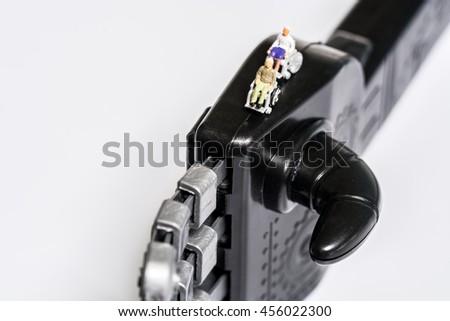 Seniors on robot hand #456022300