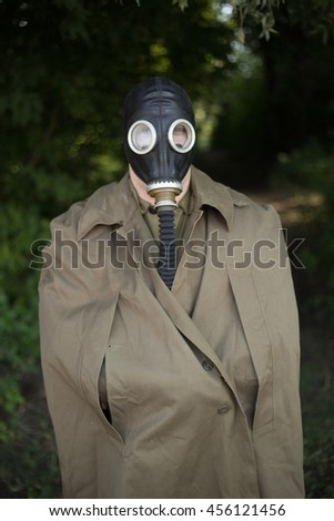 Soldiers in gas masks #456121456