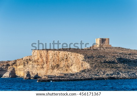 Commino island in archipelago Malta #456171367