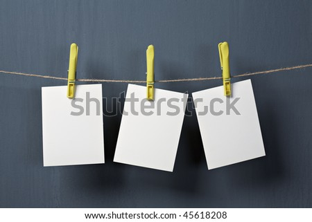 white photo paper on gray background #45618208