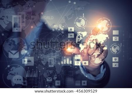 Using innovative technologies .  Mixed media #456309529