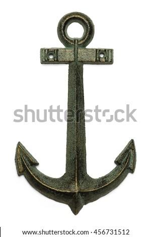 Sailing Boat Anchor Isolated on White Background.