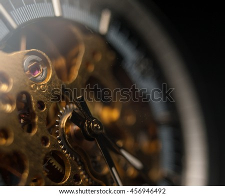 Detailed shot of a vintage watch or old watch. #456946492
