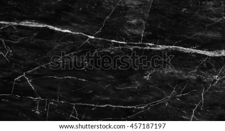 Black marble patterned texture background, abstract natural marble black and white for design. #457187197
