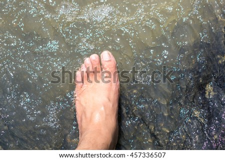 Foot in water #457336507