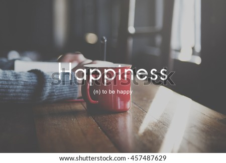 Happiness Cheerful Enjoyment Leisure Playful Concept #457487629