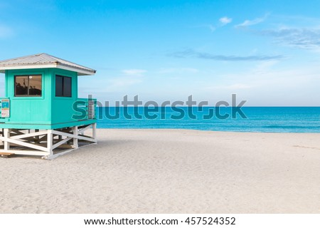 Lifeguard Tower in Venice Beach, Florida #457524352