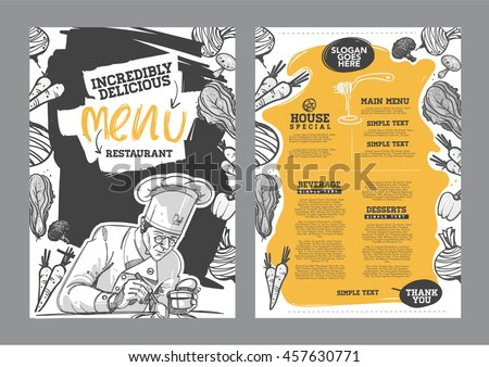 Creative menu design. Menu template and layout menu. Royalty-Free Stock Photo #457630771