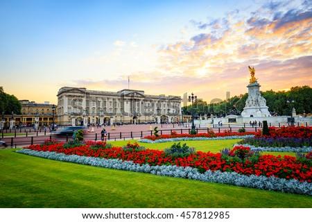 Buckingham Palace in London, United Kingdom. Royalty-Free Stock Photo #457812985