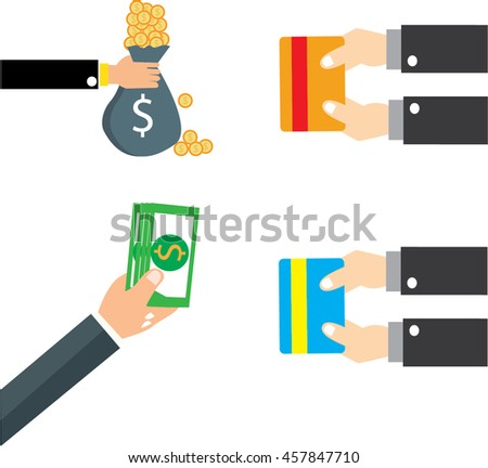 concept for crowdfunding, hand with cash #457847710