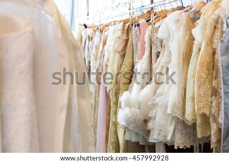 Wedding dress for the wedding and put to other work. #457992928
