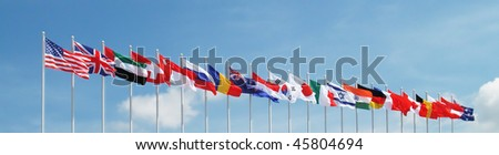 Flags of some major global countries