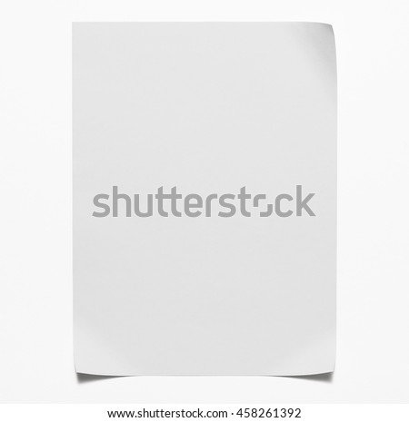 sheet of paper isolated on white Royalty-Free Stock Photo #458261392