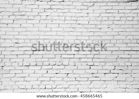 White misty brick wall for background or texture #458665465