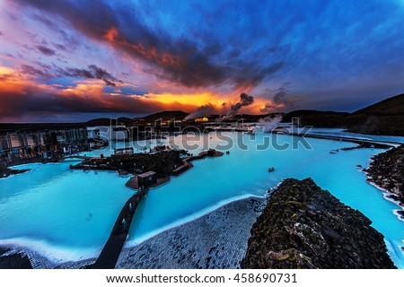 The Blue Lagoon, Iceland. #458690731