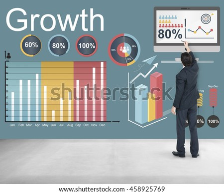 Growth Improvement Increase Development Concept #458925769