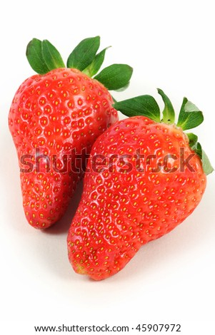 Fresh and tasty strawberries isolated on white background #45907972