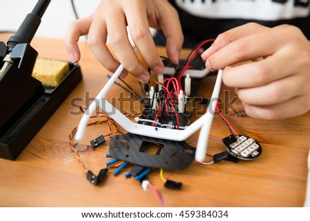 Building of flying drone #459384034