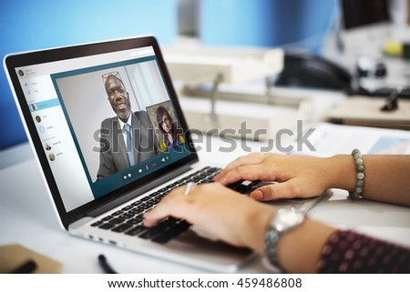 Video Call Chat Meeting Talking Concept #459486808
