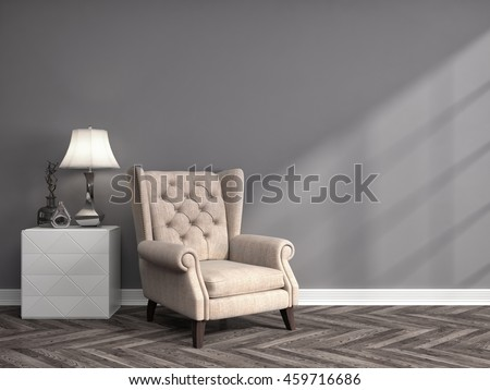 interior with chair. 3d illustration #459716686