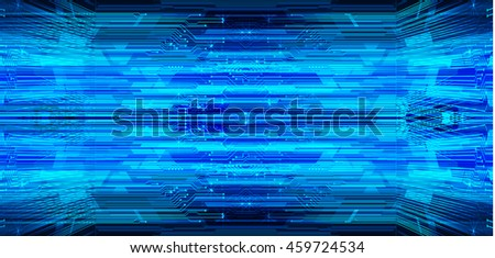 blue abstract cyber future technology concept background, illustration, circuit, binary code. move motion speed #459724534