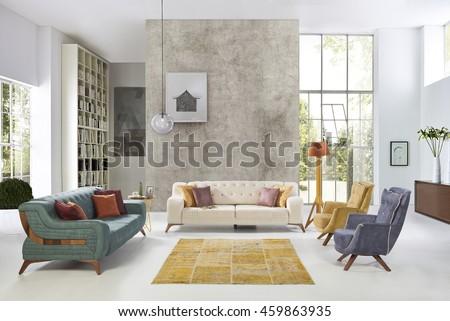 Modern Living Room luxury sofa interior design #459863935