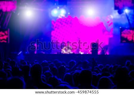 De-focused concert crowd #459874555