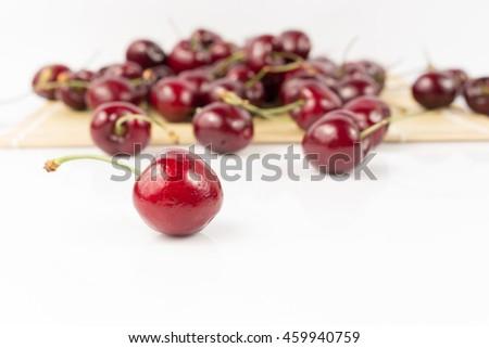 Fresh Cherry Fruit on white #459940759