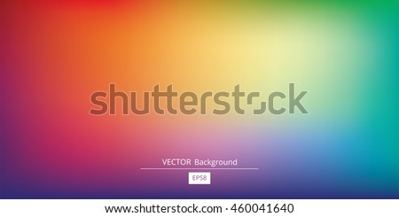 Abstract blurred gradient mesh background in bright rainbow colors. Colorful smooth banner template. Easy editable soft colored vector illustration in EPS8 without transparency. Royalty-Free Stock Photo #460041640