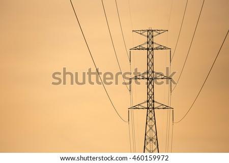High voltage tower  #460159972