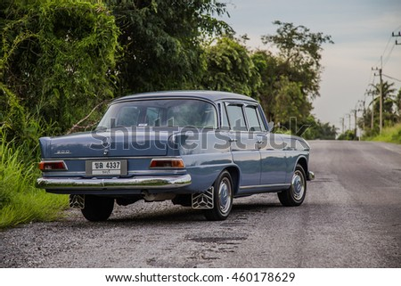 The Mercedes-Benz 200 (W110) parking in the road on July, 27, 2016 Chonburi,Thailand #460178629