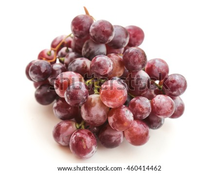 Red grapes isolated on white #460414462