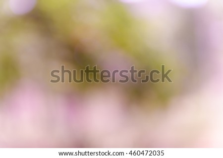 Violet abstract bokeh background from nature environment #460472035