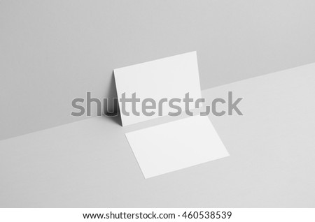 A6 Flyer / Postcard / Invitation Mock-Up - Wall Background Royalty-Free Stock Photo #460538539
