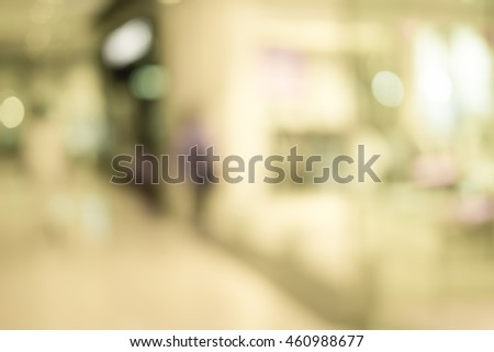 Blur image of shopping mall with shining lights #460988677