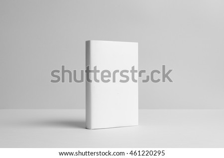 Hardcover Book Mock-Up - Dust Jacket.  Wall Background #461220295