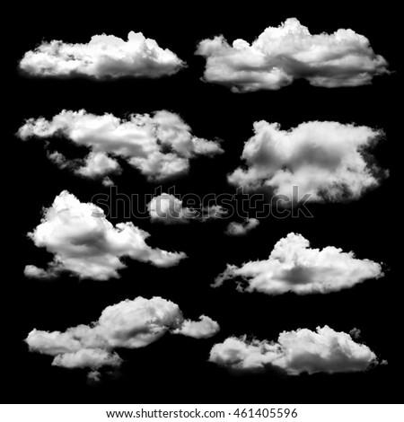 Shape of cloud for design material isolated on black background #461405596