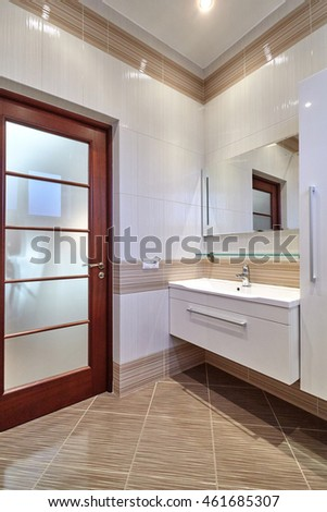 bathroom with a beautiful interior #461685307
