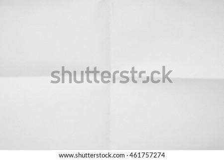 White sheet of paper folded texture #461757274