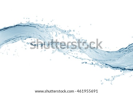 Water,water splash isolated on white background    #461955691