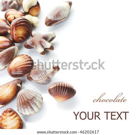 Chocolate seashells border #46202617