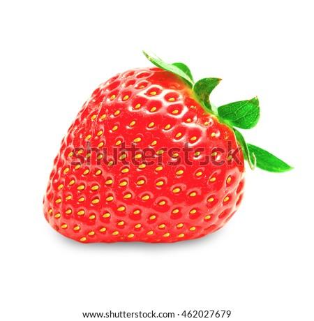 Fresh strawberry fruit isolated on white background #462027679